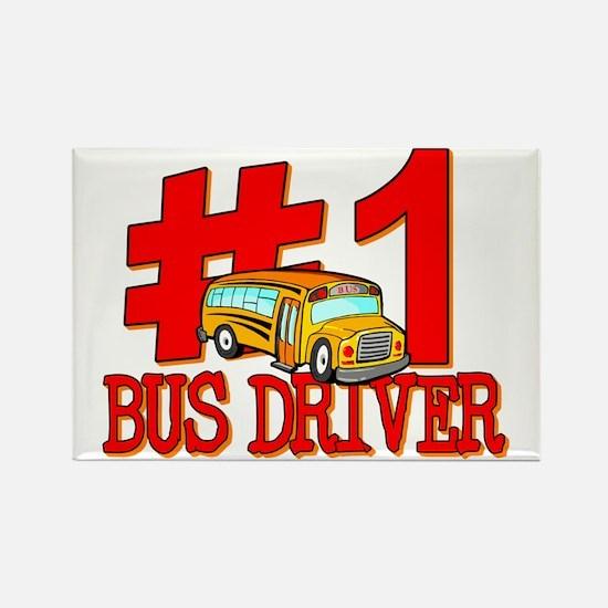 #1 Bus Driver Rectangle Magnet