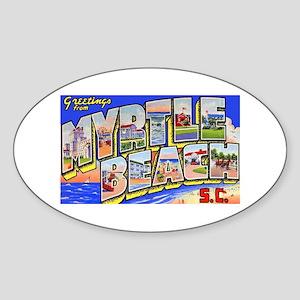 Myrtle Beach South Carolina Oval Sticker