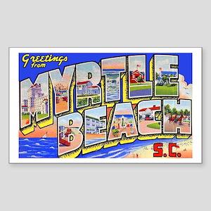 Myrtle Beach South Carolina Rectangle Sticker