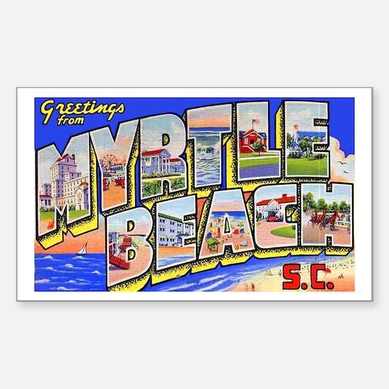 Myrtle Beach South Carolina Rectangle Decal