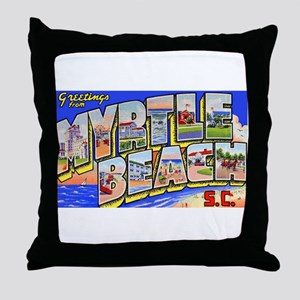 Myrtle Beach South Carolina Throw Pillow