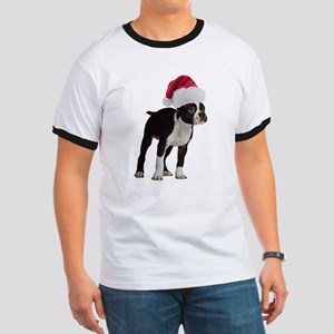 Boston Terrier Christmas Ringer T