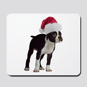 Boston Terrier Christmas Mousepad