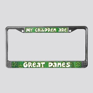 My Children Great Dane License Plate Frame