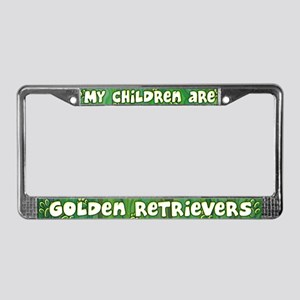 My Children Golden Retriever License Plate Frame