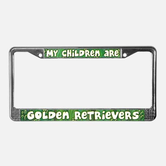 My Children Golden Retriever License Plate Frame