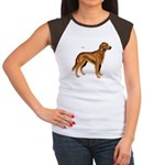 Irish Setter Dog (Front) Women's Cap Sleeve T-Shir