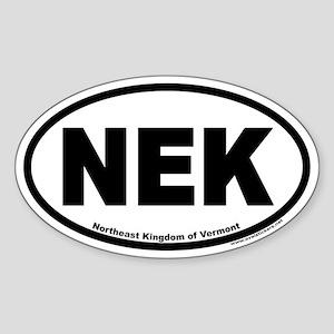 Northeast Kingdom of Vermont NEK Euro Oval Sticker