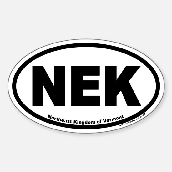Northeast Kingdom of Vermont NEK Euro Oval Decal