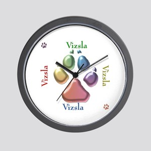 Vizsla Name2 Wall Clock