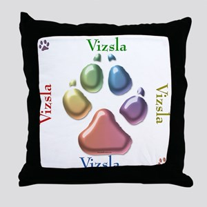 Vizsla Name2 Throw Pillow