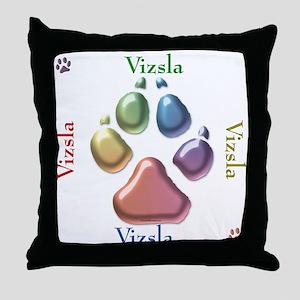 Vizsla Name2 Throw Pillow