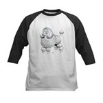 Poodle Dog Kids Baseball Jersey