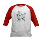 Poodle Dog (Front) Kids Baseball Jersey