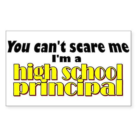 High School Principal Rectangle Sticker