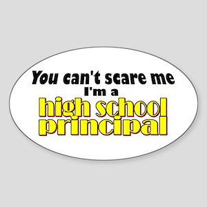 High School Principal Oval Sticker
