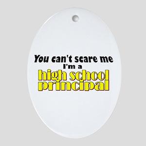 High School Principal Oval Ornament
