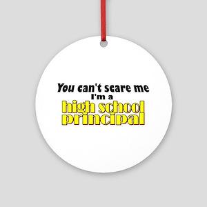 High School Principal Ornament (Round)