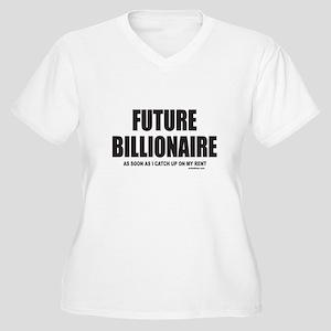 FUTURE BILLIONAIRE Women's Plus Size V-Neck T-Shir