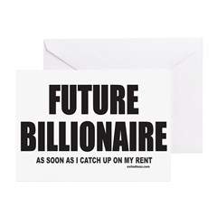 FUTURE BILLIONAIRE Greeting Cards (Pk of 20)