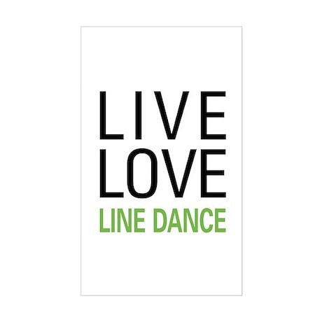 Live Love Line Dance Rectangle Sticker