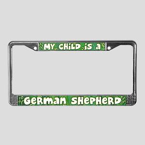 My Kid German Shepherd License Plate Frame