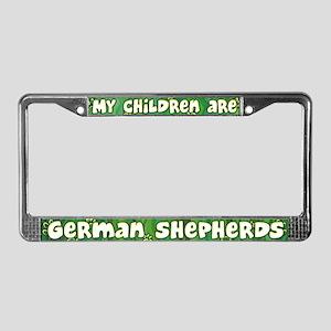 My Children German Shepherd License Plate Frame