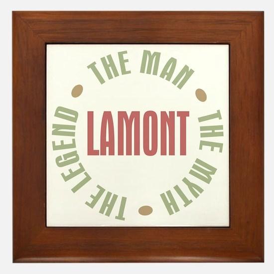 Lamont Man Myth Legend Framed Tile