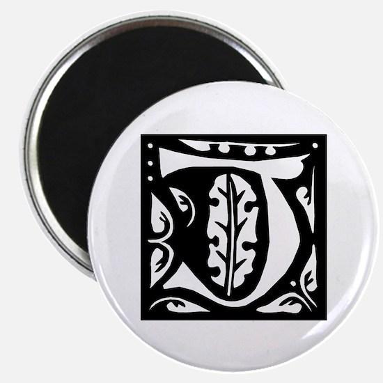 Art Nouveau Initial J Magnet