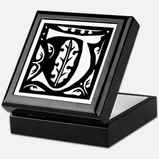 Art Nouveau Initial J Keepsake Box