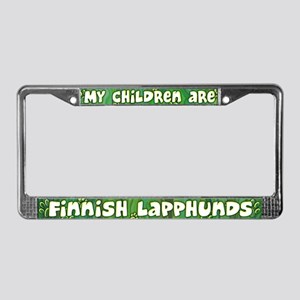 My Children Finnish Lapphund License Plate Frame