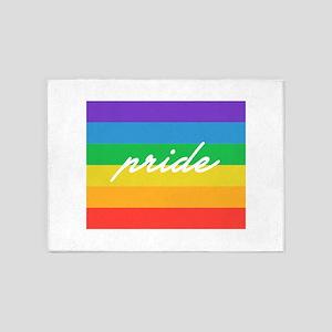 Gay Pride Flag 5'x7'Area Rug