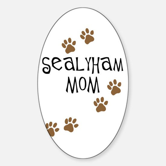 Sealyham Mom Oval Decal