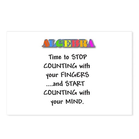 ALGEBRA TIME TO STOP COUNTING Postcards (Package o