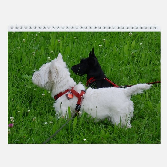 Westie and Scottie Wall Calendar