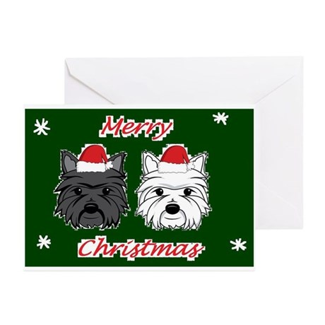 Westie and Scottie Greeting Cards (Pk of 10)