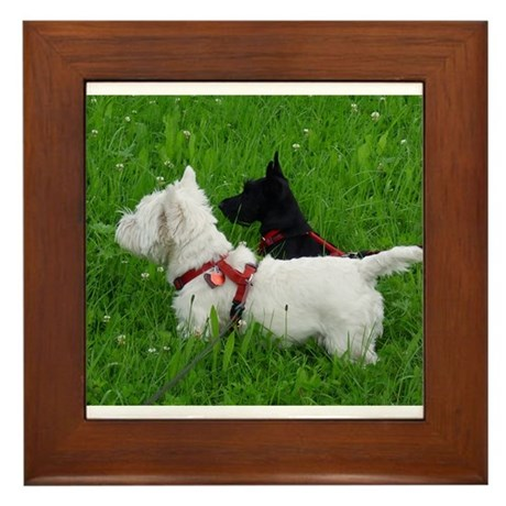 Westie and Scottie Framed Tile