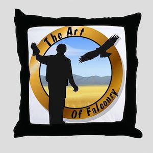 Falconer-Round Throw Pillow