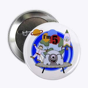 Outer Space 5th Birthday Button