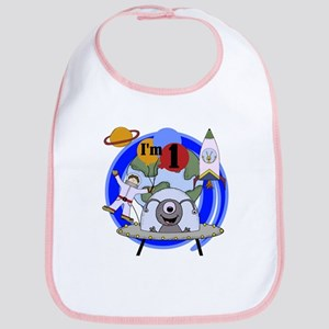 Outer Space 1st Birthday Bib