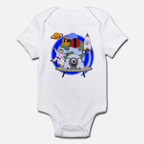 Outer Space 1st Birthday Infant Creeper