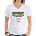 Stained Glass Artist-GrapeArb Women's V-Neck T-Shi