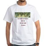 Stained Glass Artist-GrapeArb White T-Shirt