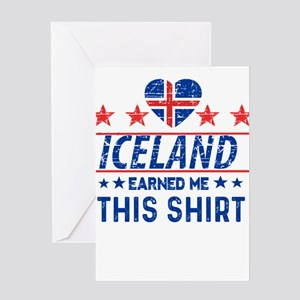 iceland earned me tees Greeting Cards
