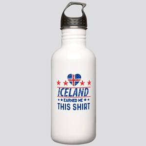 iceland earned me tees Stainless Water Bottle 1.0L