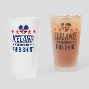 iceland earned me tees Drinking Glass