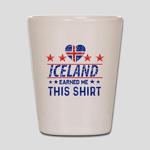 iceland earned me tees Shot Glass