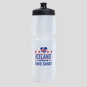 iceland earned me tees Sports Bottle