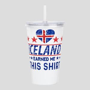 iceland earned me tees Acrylic Double-wall Tumbler