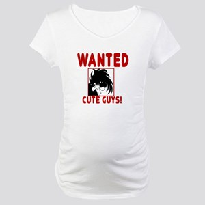 Wanted Cute Guys Maternity T-Shirt